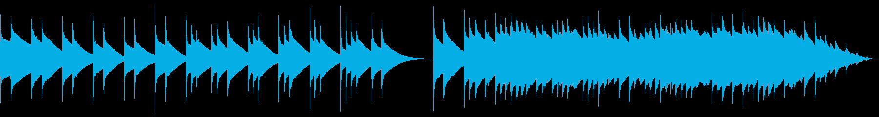 (60秒)哀愁漂うチェレスタオルゴール曲の再生済みの波形