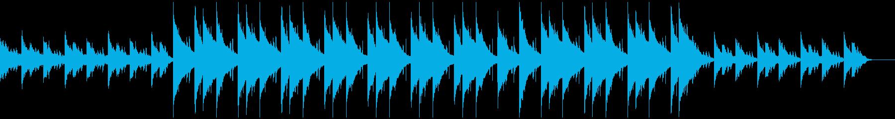 感傷的なピアノの再生済みの波形