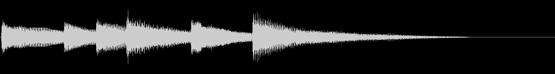 【生演奏】ゆったりなピアノジングルの未再生の波形