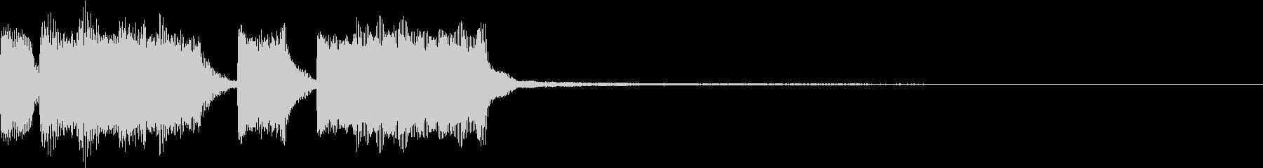 ファンファーレ ベル レベルアップ 5の未再生の波形