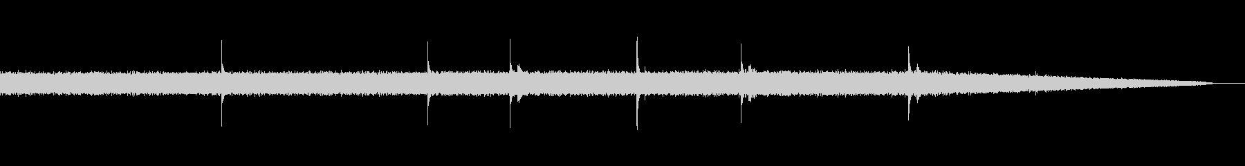 雨音&雨漏り01(ザーー ぽたぽた)の未再生の波形