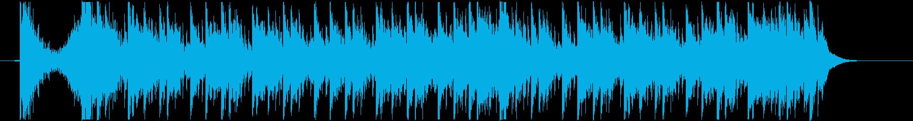 スタイリッシュでクールさを演出した曲の再生済みの波形