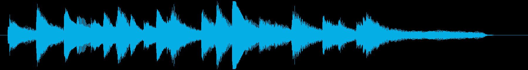 ゆったりしたピアノソロジングルの再生済みの波形