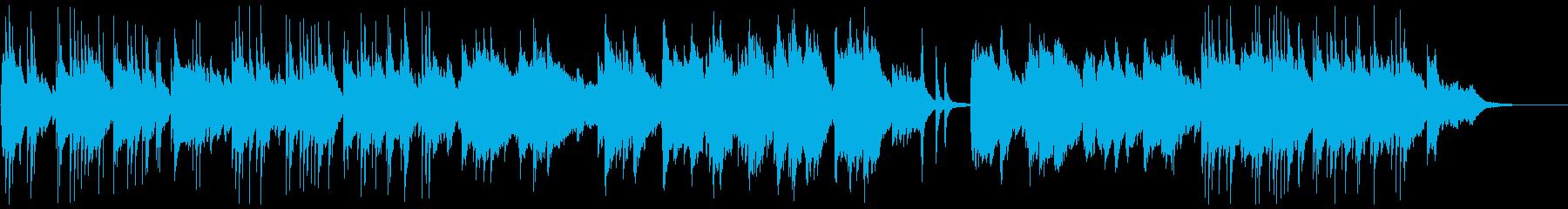 しんみりと温かいBGMの再生済みの波形