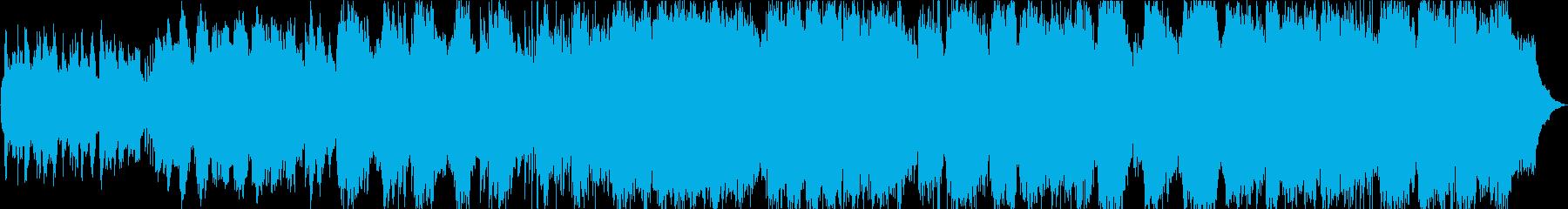 静かなピアノと竹笛のヒーリング音楽の再生済みの波形