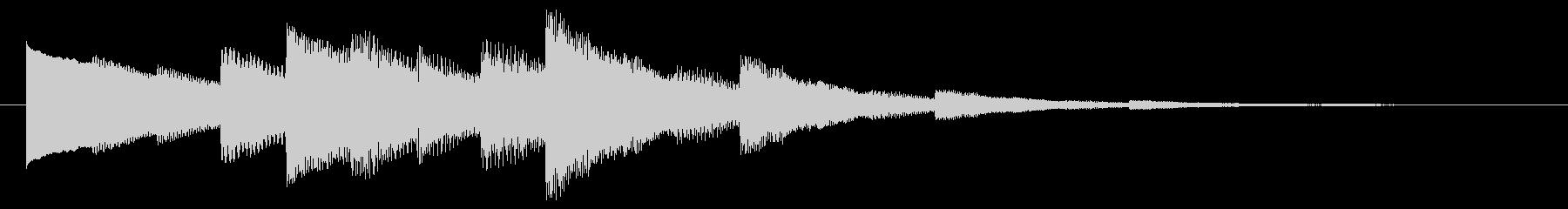 ベルの静かな場面転回音1の未再生の波形