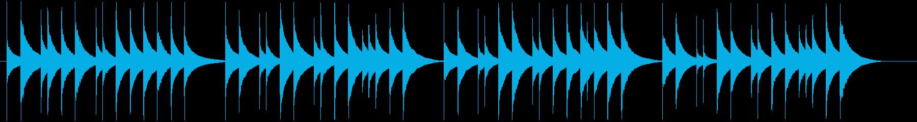 蛍の光のオルゴールの再生済みの波形