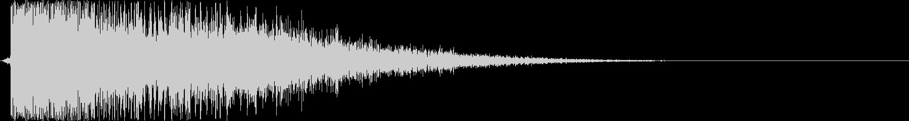 バヒューン(シューティング、ミサイル)の未再生の波形