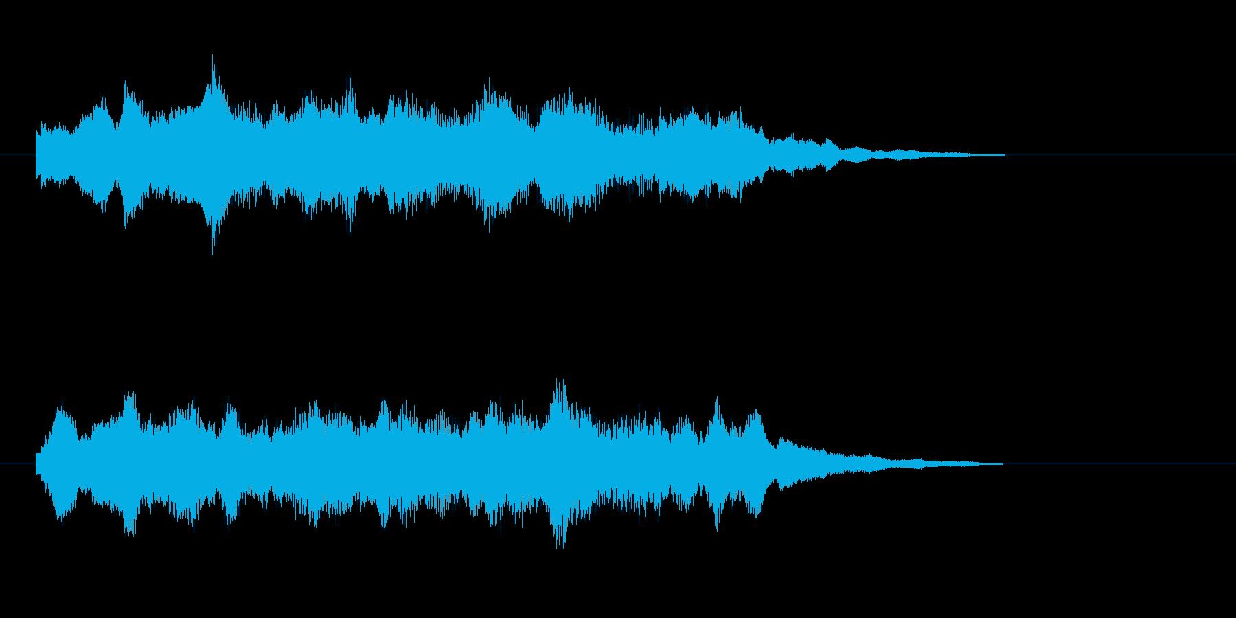 煌びやかな和風ポップスの再生済みの波形