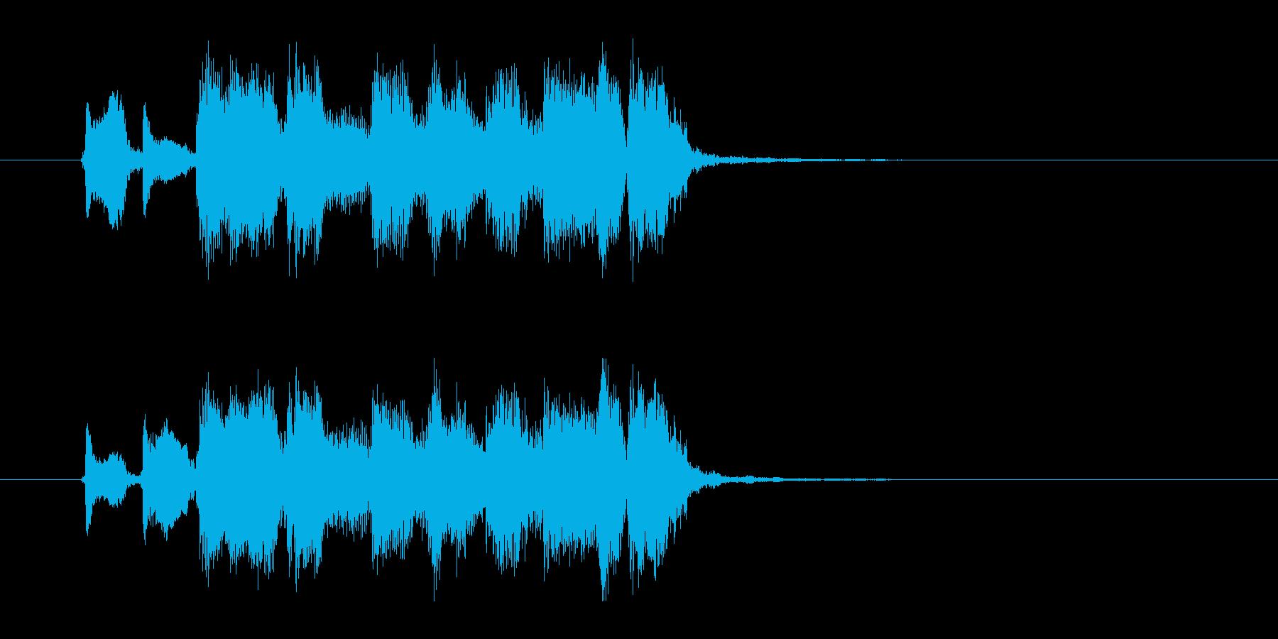 ワイルドなロックナンバーの再生済みの波形