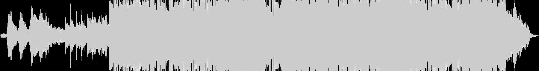蜃気楼をイメージした幻想的な曲の未再生の波形