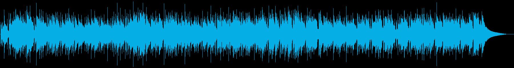 穏やかなマンドリンのカントリー風BGMの再生済みの波形