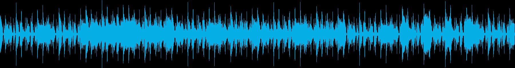 おしゃれなシンセリードBGM ループの再生済みの波形
