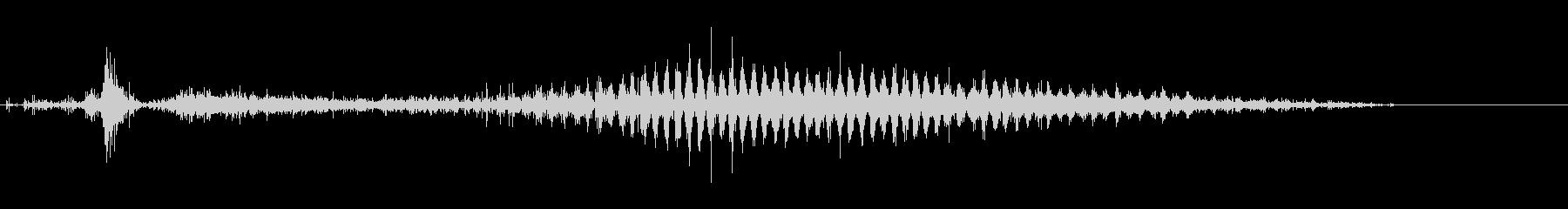 「シャラシャラ〜」レインシェーカーの水音の未再生の波形