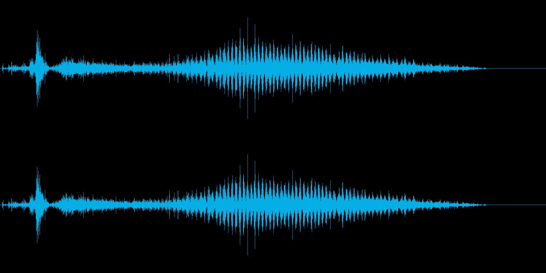 「シャラシャラ〜」レインシェーカーの水音の再生済みの波形