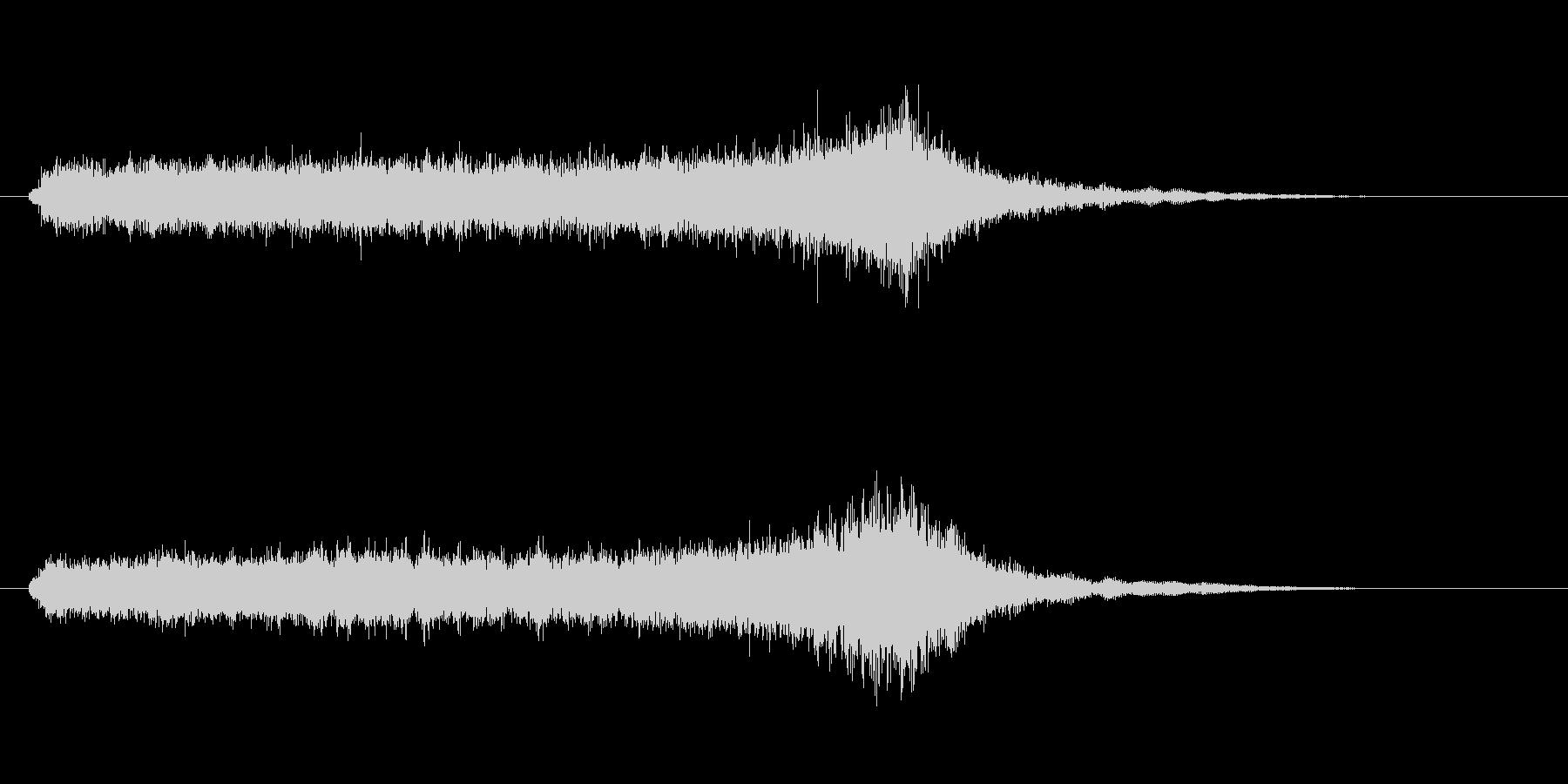 ホラーで奇妙な効果音の未再生の波形