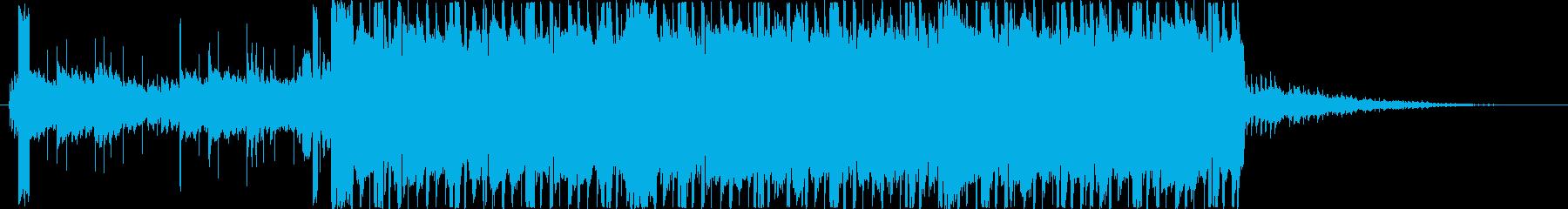 エレクトリカルなビート。シンセ 宇宙惑星の再生済みの波形