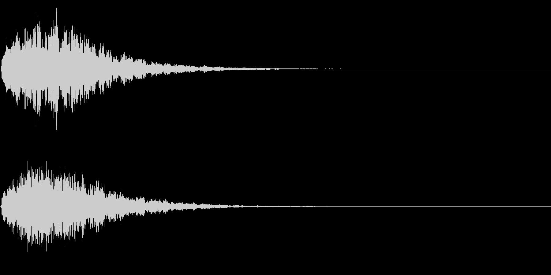 ゲームスタート、決定、ボタン音-150の未再生の波形