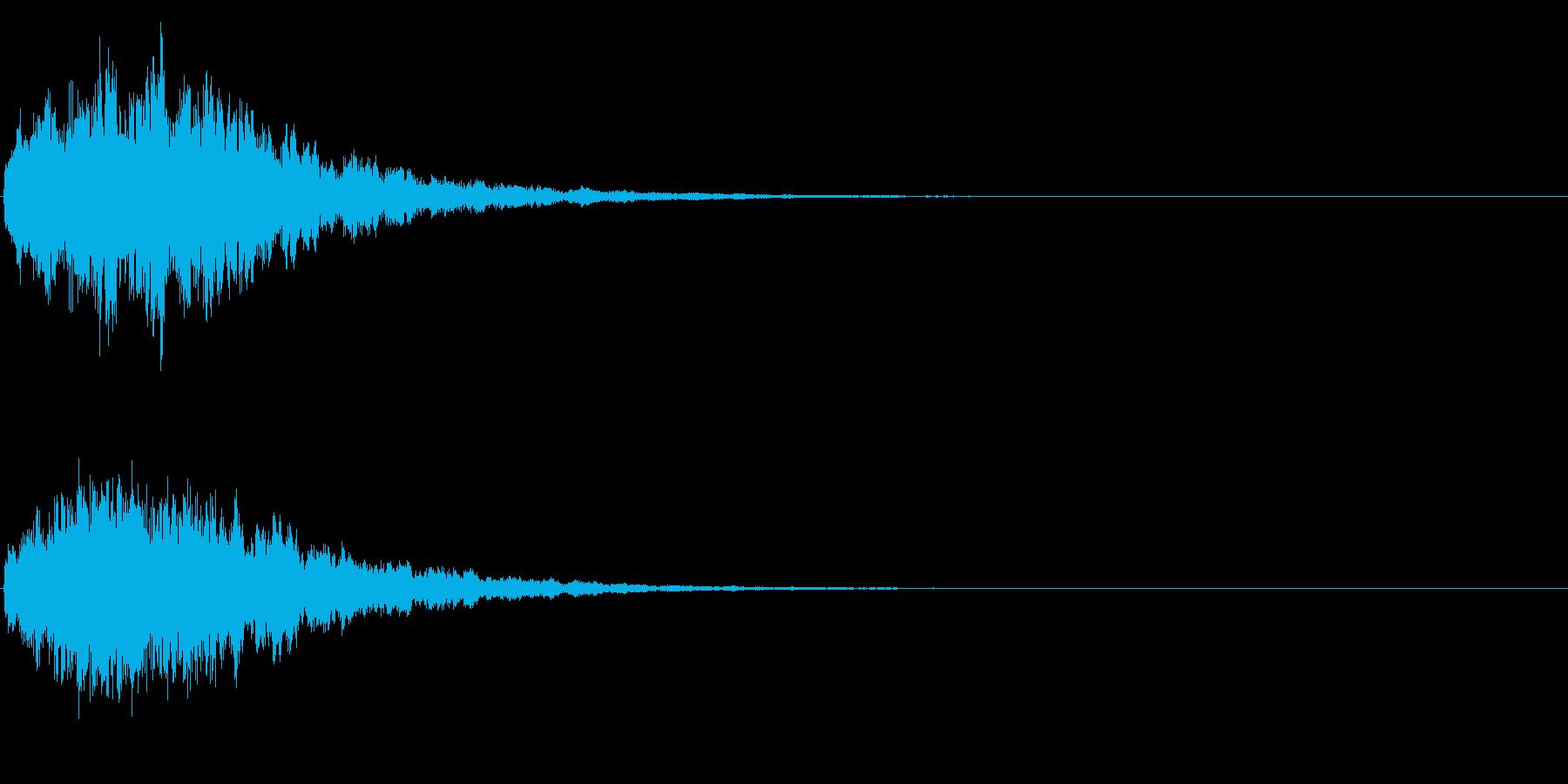 ゲームスタート、決定、ボタン音-150の再生済みの波形