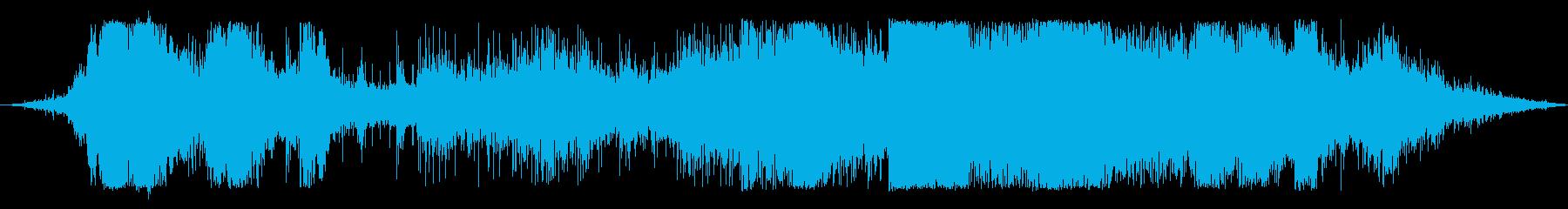 非常に重い花火のフィナーレ:遠く、...の再生済みの波形
