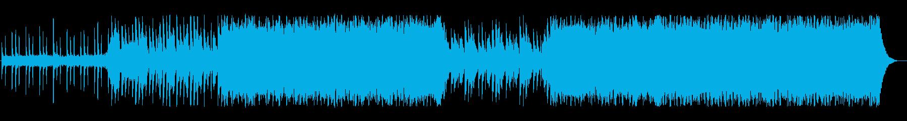シンセ クールな印象を与えるテクノポップの再生済みの波形