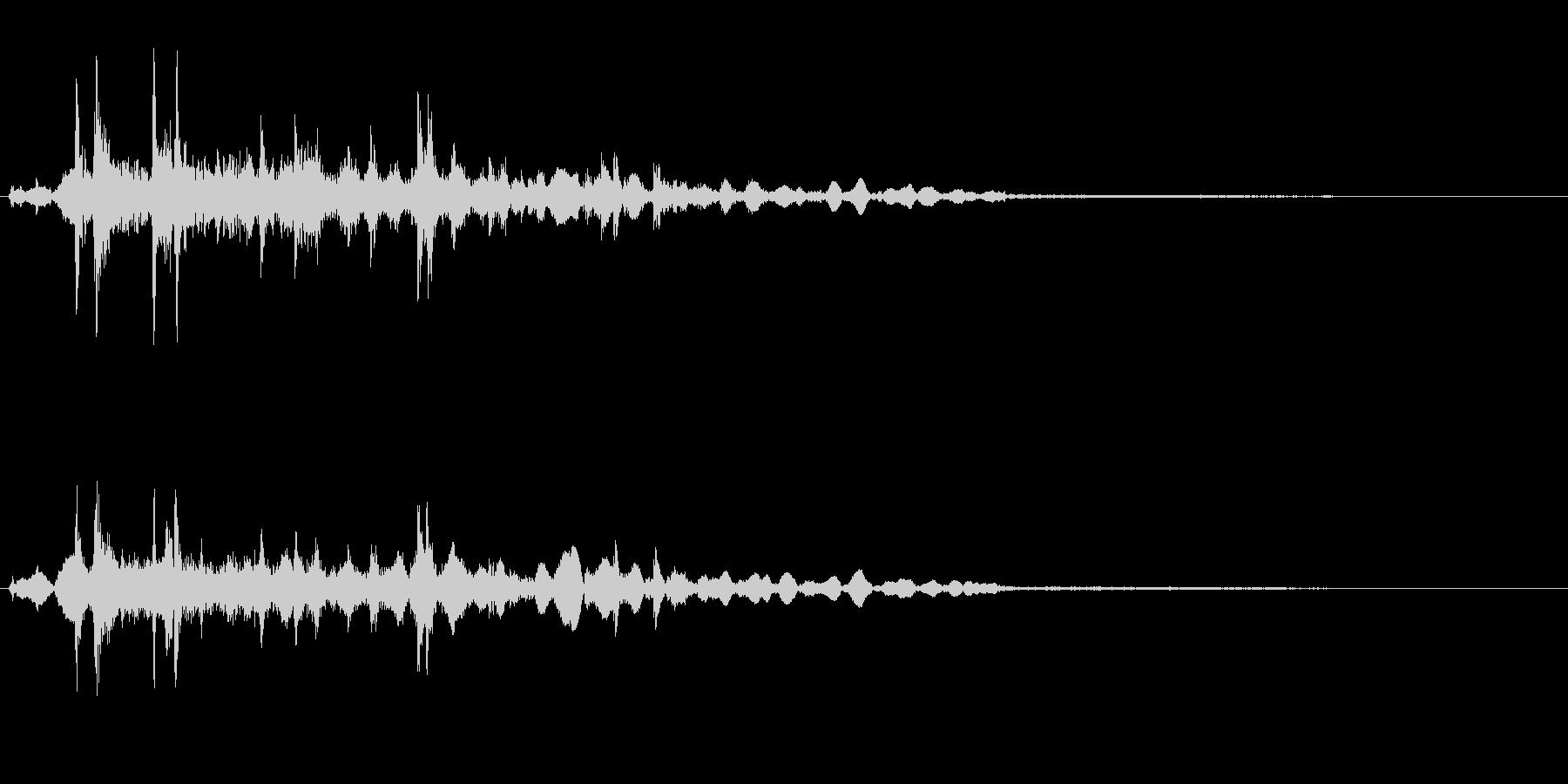カラコロコロ(注ぐ音)の未再生の波形