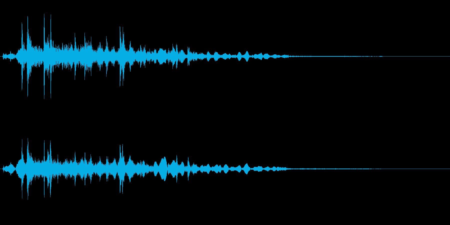 カラコロコロ(注ぐ音)の再生済みの波形