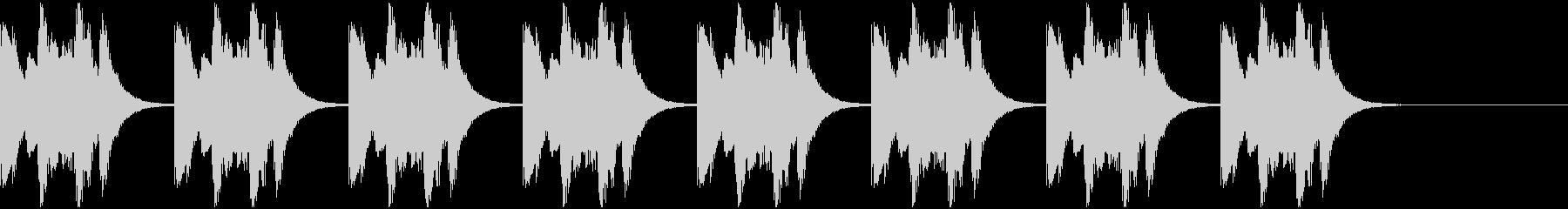 鉄琴・木琴による着信音(ループ版)の未再生の波形