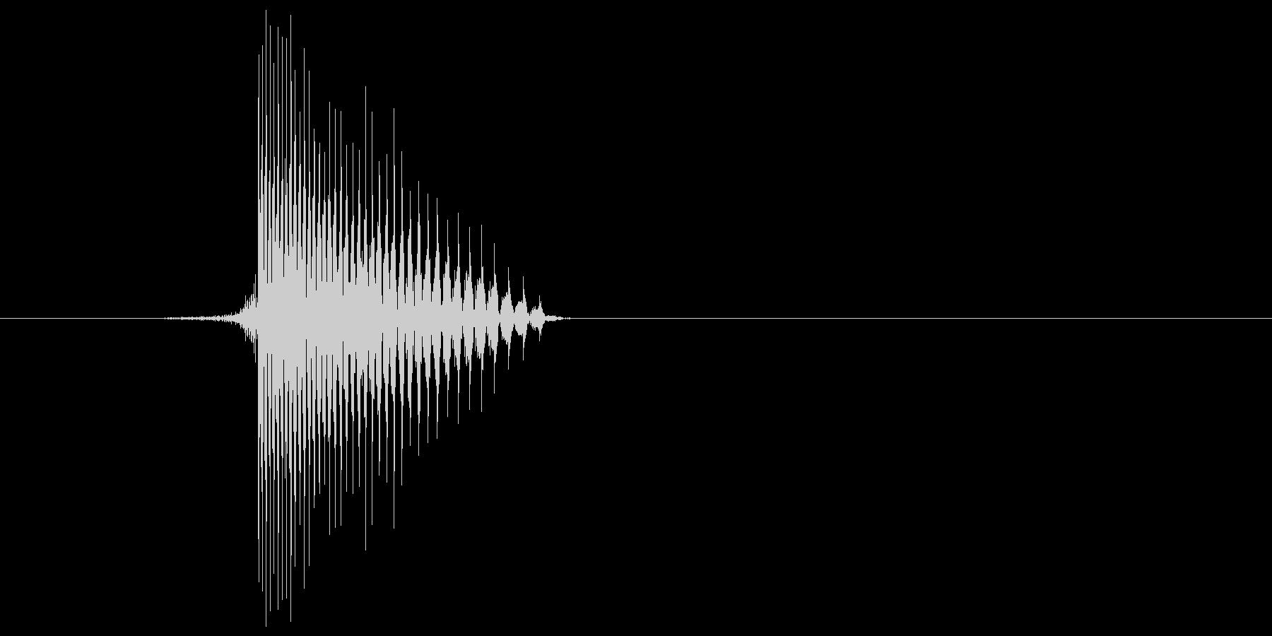 ゲーム(ファミコン風)ヒット音_021の未再生の波形