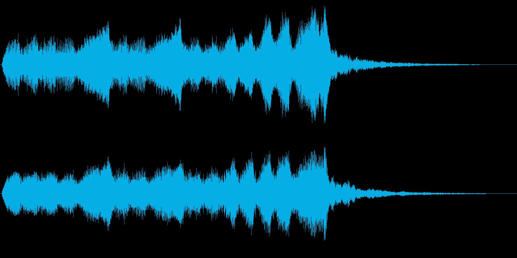バイオリンの悲しいゲームオーバーフレーズの再生済みの波形