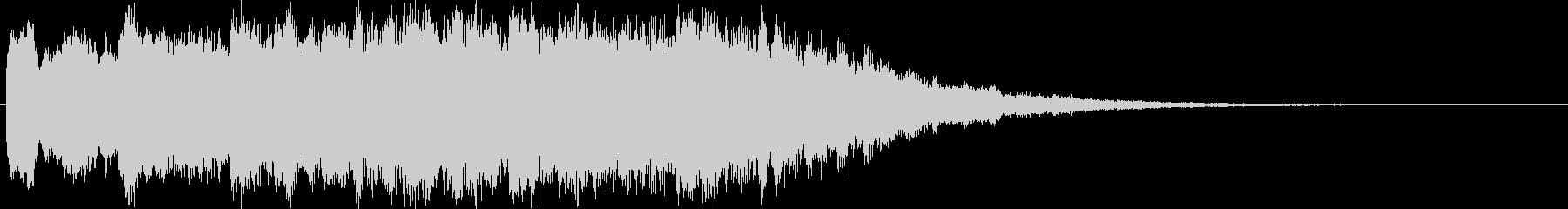 ベル音の寂しげな転換音 転回音 ジングルの未再生の波形