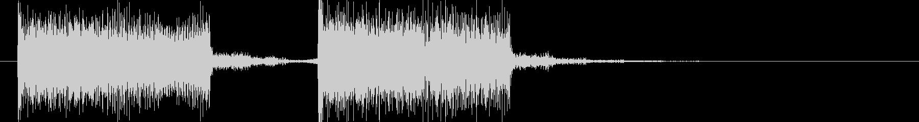 結果発表や次のステップに進む時の音の未再生の波形
