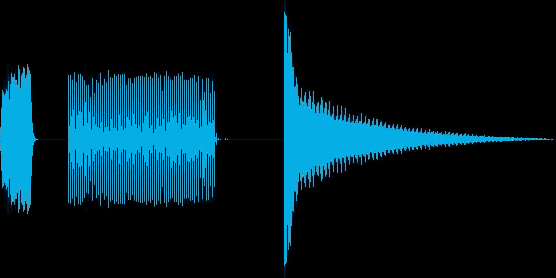 オーブントースターの動作音(8ビット風)の再生済みの波形