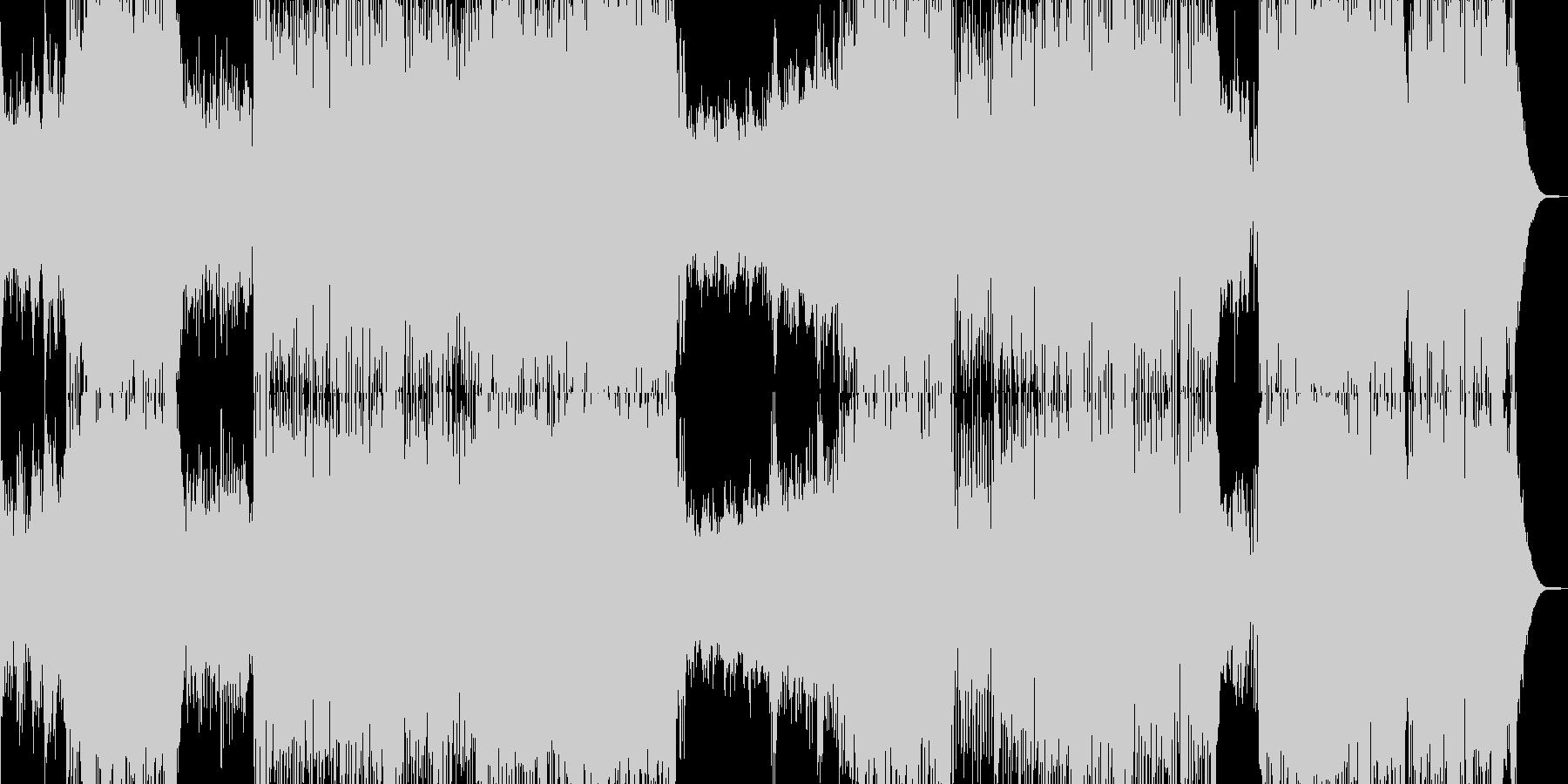 ピアノ・冒険・大空を翔けるテーマ 長尺の未再生の波形