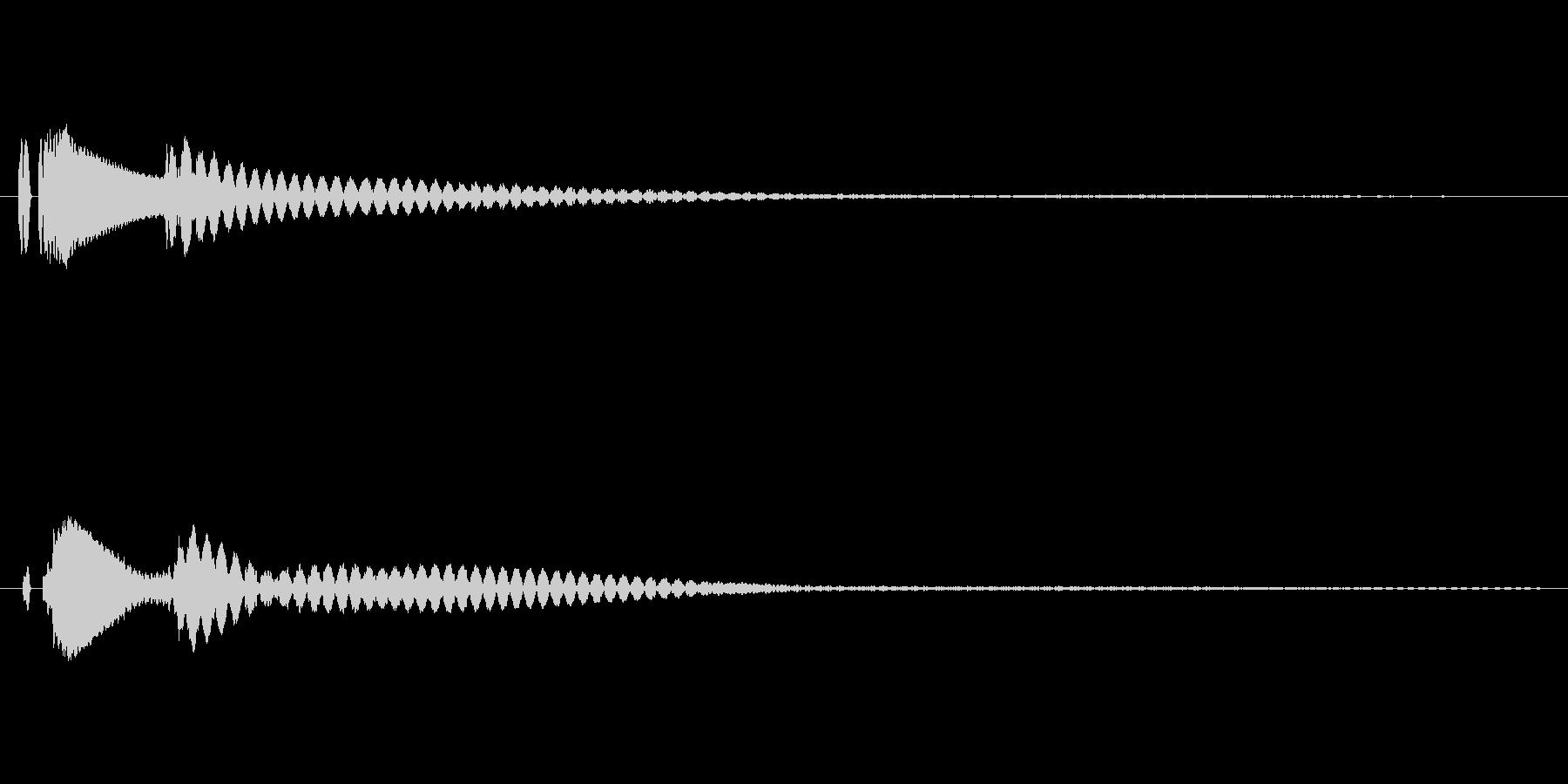 キャラーン ホラー系のキャンセル音の未再生の波形