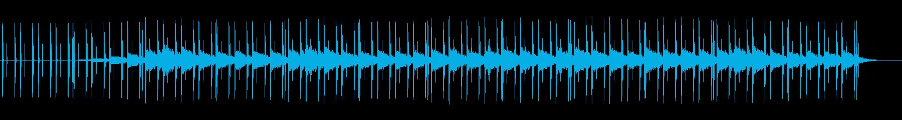 超シンプル!Lo-Fi風BGMの再生済みの波形