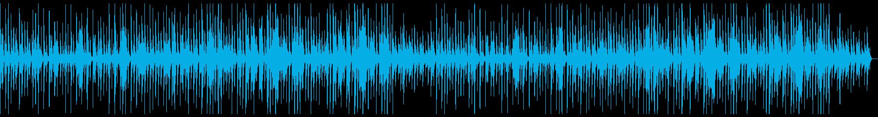 和風でかわいい曲の再生済みの波形
