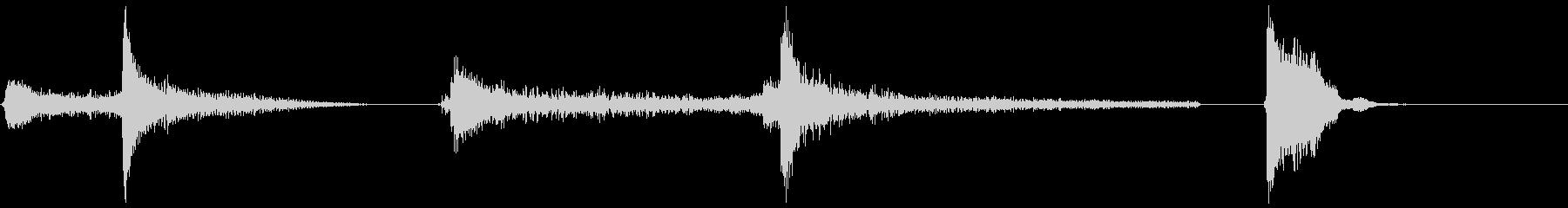 エアロックボルト機構X3の未再生の波形