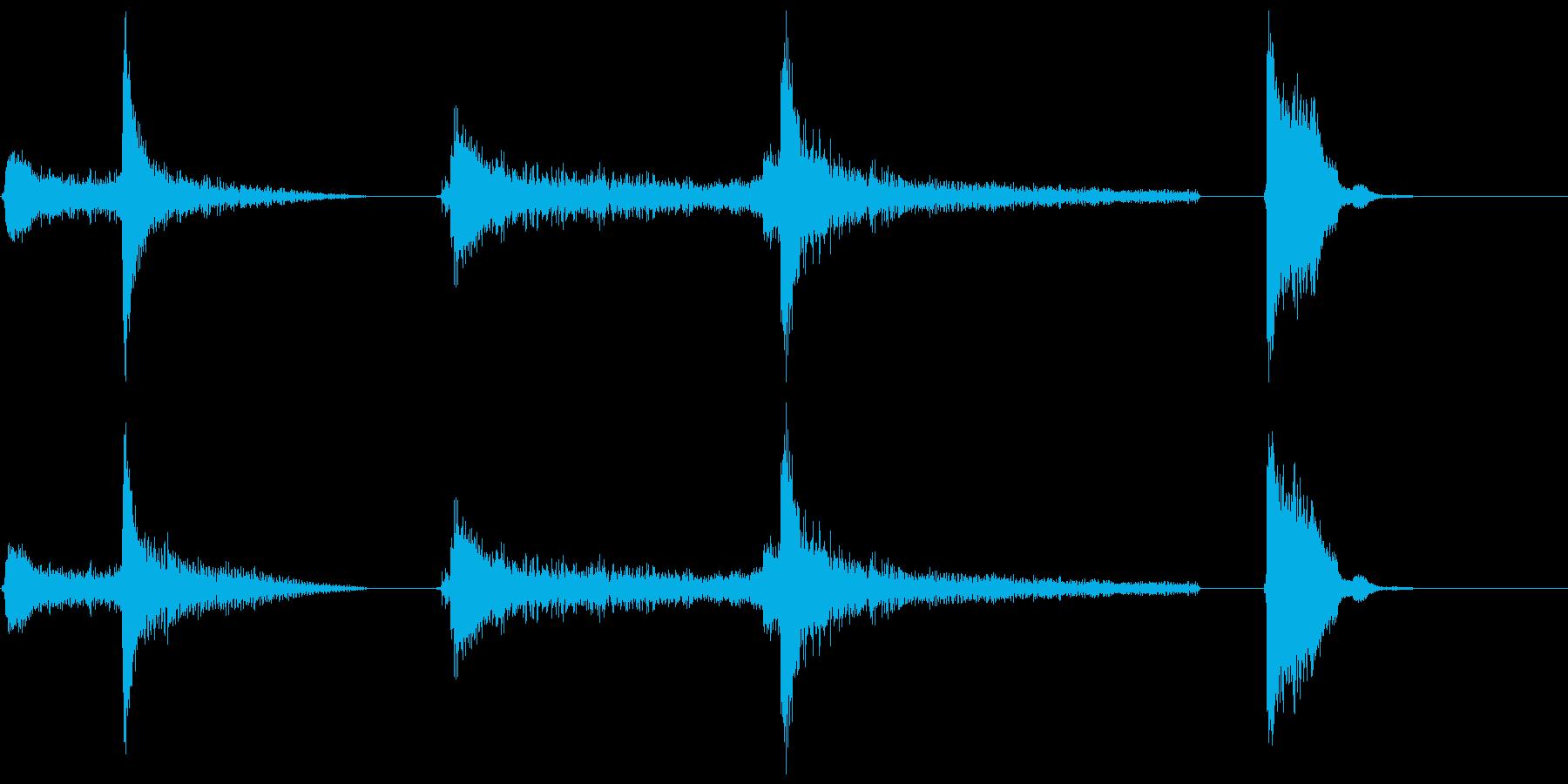 エアロックボルト機構X3の再生済みの波形