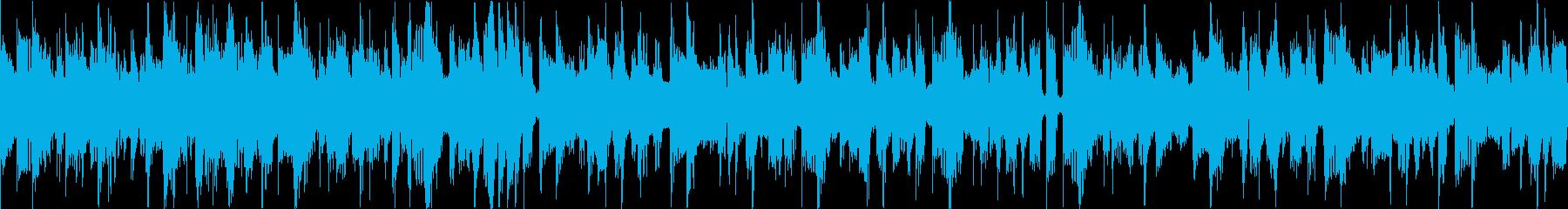 ベースラインが特徴的なファンクサウンドの再生済みの波形