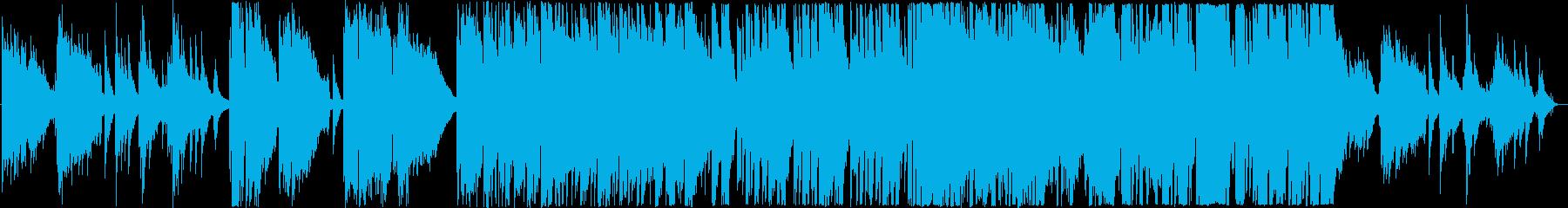 海辺で聴くギターとピアノのバラード曲の再生済みの波形