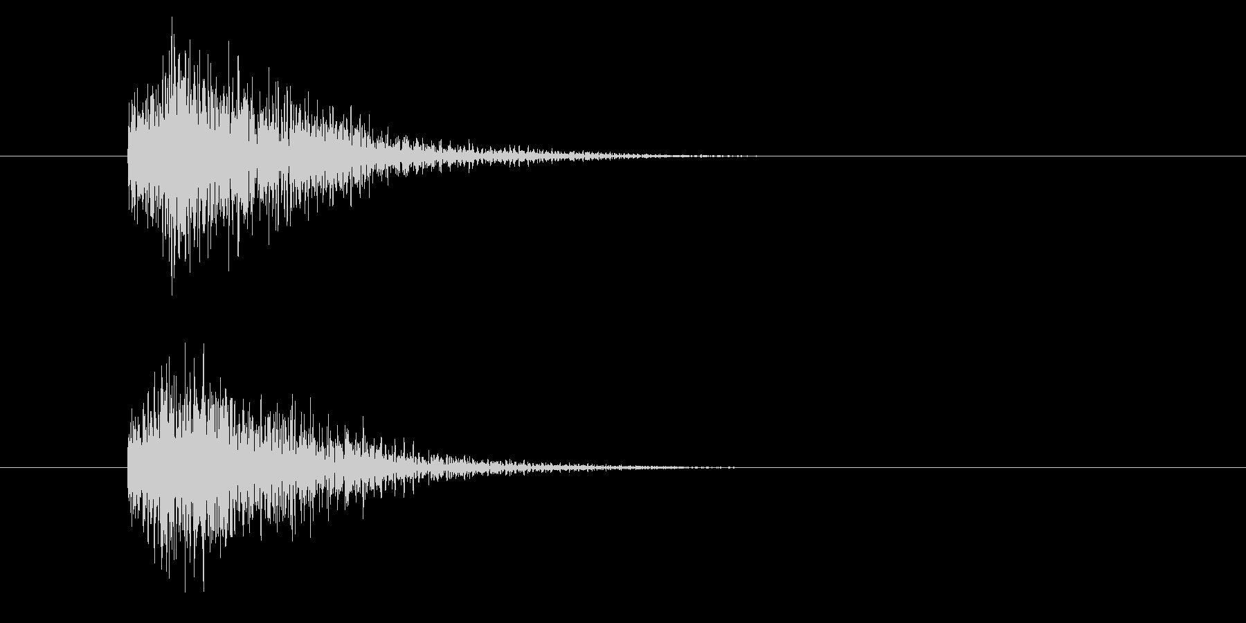 ジャン!豪華なオケヒその2_音程低めの未再生の波形