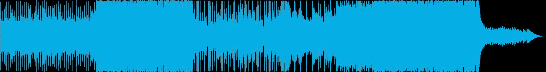 切なく神々しさのあるBGMの再生済みの波形