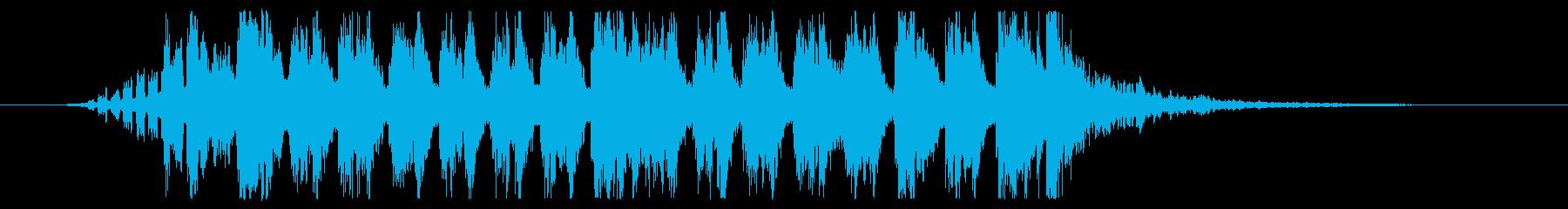 必殺技を繰り出すシンセサイザーの再生済みの波形