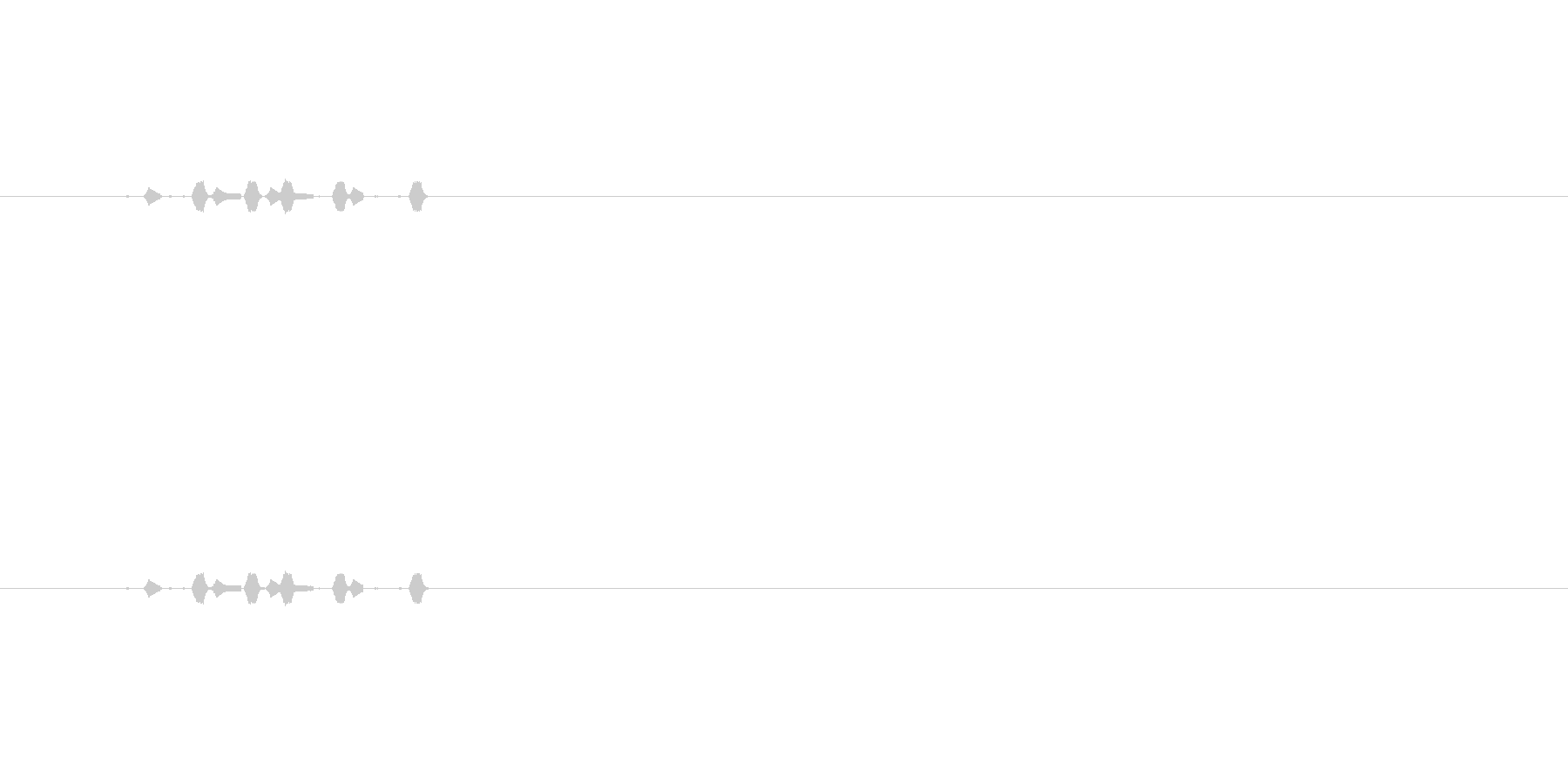 【サイバー13-1】の未再生の波形