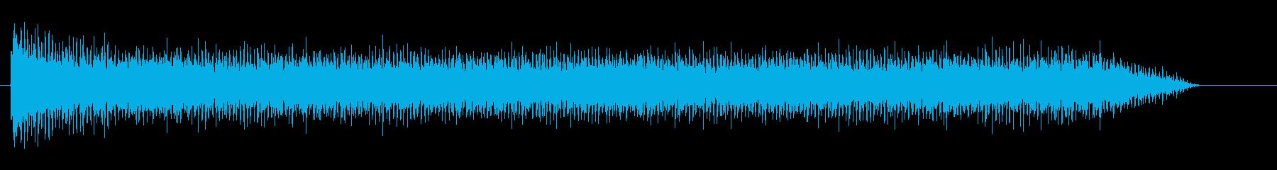 スチームパンクな飛行音、エンジン音の再生済みの波形