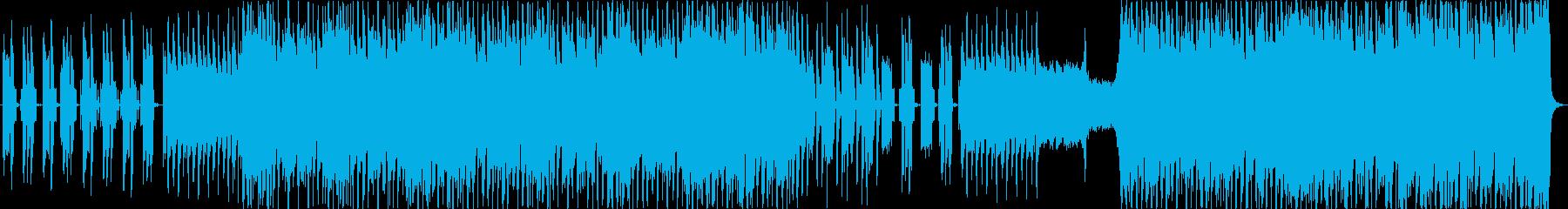 推進力のあるエレクトロなロックの再生済みの波形