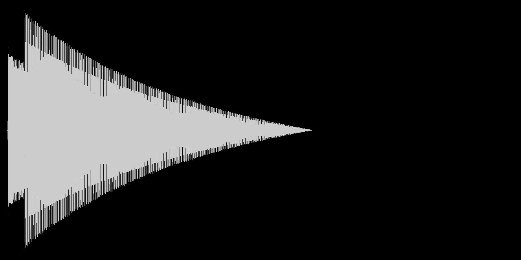ピンポーン!シンプルな正解時の効果音の未再生の波形