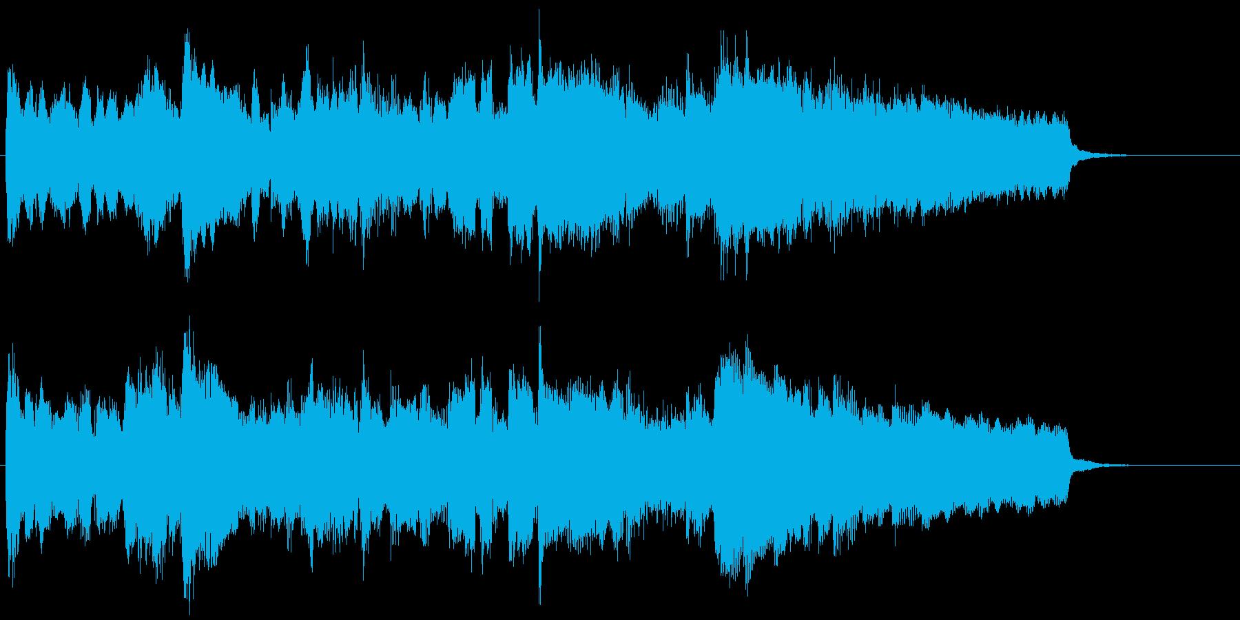 静かに勇ましい雰囲気のフルートジングルの再生済みの波形