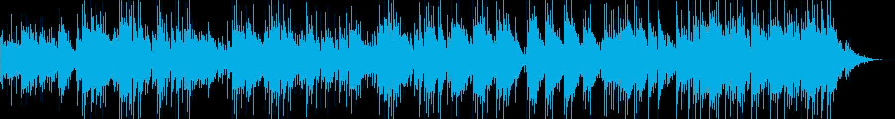 優しいギターサウンドの再生済みの波形